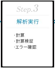 Step.3 [解析実行] ・計算 ・計算検証 ・エラー確認