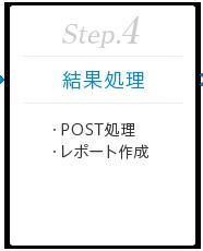 Step.4 [結果処理] ・POST処理 ・レポート作成